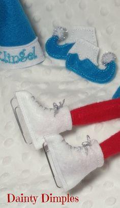 LAST ONE Elf Ice skates Elf Accessories Elf by DaintyDimples