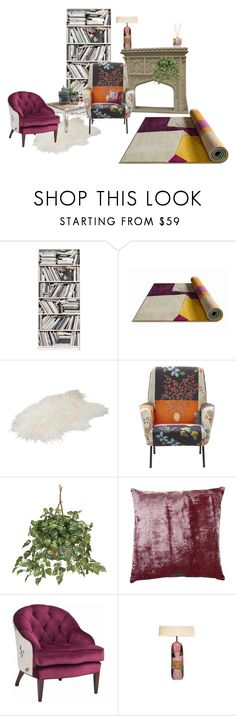 """""""For the first time"""" by frankooliiiii ❤ liked on Polyvore featuring interior, interiors, interior design, home, home decor, interior decorating, Brewster Home Fashions, Nearly Natural, William Yeoward and Nina Campbell"""