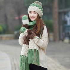 4a8ef48051aa6 57 Exciting Winter womens hat scarf and glove set as Christmas gift ...