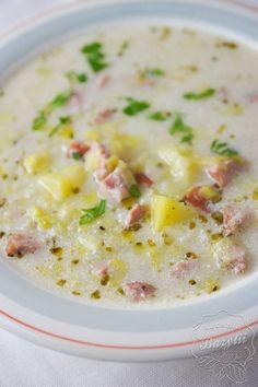 Zupa porowa - szybki i łatwy przepis na zupę - zobacz! Pac Man, Cheeseburger Chowder, Food, Diet, Essen, Meals, Yemek, Eten