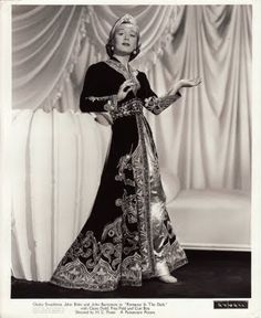 Gladys Swarthout in famous Travis Banton gown