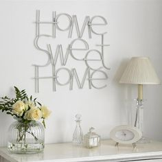 Home Sweet Home Metal Art - Metallic Wall Art by Graham  Brown