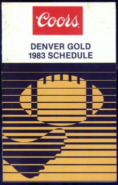 1983 USFL DENVER GOLD COORS BEER FOOTBALL POCKET SCHEDULE EX+NM FREE SHIPPING $3.49