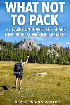 We've shared plenty of carry-on packing tips and hacks, but here are some tips on what NOT to pack as told by 21 travellers. #carryonpacking #carryon #packingtips