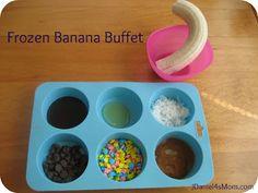 Frozen Banana Buffet of Toppings