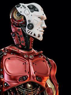 rhubarbes:  Robotic upper body by Ociacia/Vladislav Ociacia.More robots here.