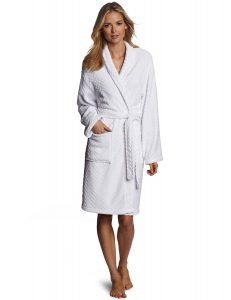 Seven Apparel Hotel Spa Collection Herringbone Textured Plush Robe 3240af16c