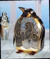 Price $91.13 Beautiful Penguin Fan Hand Painted. 13 Tall x 8 Wide Available In January...