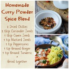 a super easy recipe to make your own homemade curry powder spice mix that is fresh, tasty, fragrant and fabulous.