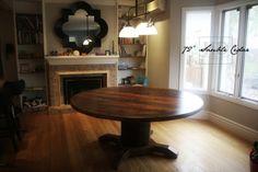 Reclaimed Wood Round Table with epoxy/polyurethane finish  www.hdthreshing.com