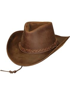 20d8f0e6188 Henschel Hats 1154-23 Brown Leather Walker Collection