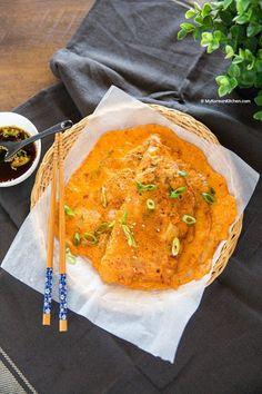Korean Kimchi Pancakes (Kimchi Buchimgae)   MyKoreanKitchen.com