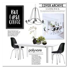 """""""Black and White Inspiration"""" by cruzeirodotejo ❤ liked on Polyvore featuring interior, interiors, interior design, home, home decor, interior decorating, Americanflat, Nearly Natural, Sia and Home Essentials"""