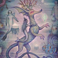 'In the Turquoise Glacier Reef' fifth artwork from the 'Tales of the Sea' project https://www.behance.net/gallery/44511465/Tales-of-the-Sea Thanks! #mermaids #merfolk #selkie #seahorse #seadeer #clownfish #fairytale #seatale #ocean #mythology #sea #seagods #seadeities #creatures #jellyfish #mollusk #animals #mermaid #watercolors #water #art #Instaart #halloween2016