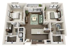 Avana Grand Palms offers luxury apartments for rent in Webster, TX. Floor plans boast walk-in closets and updated kitchens. House Layout Plans, Modern House Plans, House Layouts, House Floor Plans, Apartment Layout, Apartment Plans, Apartment Interior, Bedroom Apartment, Home Building Design
