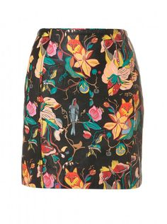 Topshop Premium painted leather skirt, £95