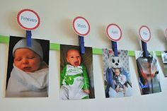 1st Birthday Banner (12 Photos to show how the birthday boy/girl has grown) in later years, a photo for every year