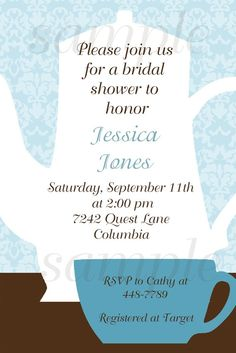 Bridal Tea Party inivte