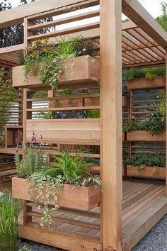 Amazing backyard patio deck design ideas - Page 21 of 32 Diy Pergola, Deck With Pergola, Diy Patio, Pergola Kits, Modern Pergola, Covered Pergola, Small Pergola, Pergola Roof, Pergola Ideas
