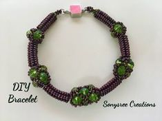 Try this Tubular Herringbone Stitch Bracelet tutorial that shows you how to use multiple sizes of beads to add a twist to a basic beading technique. Netted Bracelet, Beaded Bracelets Tutorial, Beaded Necklace, Beaded Bead, Beaded Jewelry Patterns, Beading Patterns, Beaded Jewellery, Crystal Jewelry, Herringbone Stitch Tutorial