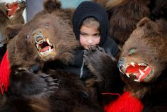 Pictures of the week: Jan. Pictures Of The Week, Brown Bear, Costumes, Dec 30, Romania, Animals, Image, Child, Animais