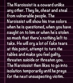 Narcissists are cowards. They smile in your face! Narcissistic People, Narcissistic Behavior, Narcissistic Abuse Recovery, Narcissistic Sociopath, Narcissistic Personality Disorder, Abusive Relationship, Toxic Relationships, Relationship Advice, Trauma
