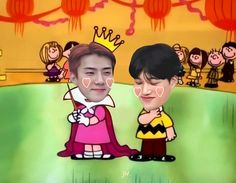 Exo Ot12, Chanbaek, Chanyeol, Exo Memes, Funny Memes, Iu Hair, Exo Lockscreen, Kpop Exo, Exo Kai