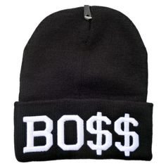 Boss Beanie ($29) ❤ liked on Polyvore featuring accessories, hats, beanies, black, beanie cap hat, beanie cap, cotton beanie caps, cotton beanie and cotton hats