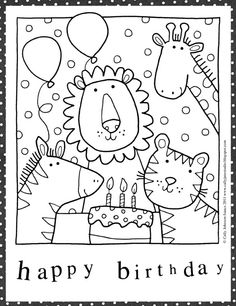 free downloadable adult coloring greeting cards  diy gifts  happy birthday coloring pages