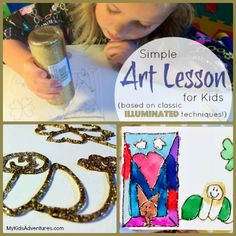 Share the magical history of illuminated manuscripts with your kids and create a personalized illuminated manuscript of your own