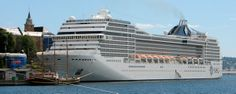 Oslo, Norway ~ Oslo is also a cruise ship destination.  This is the MSC Poesia.  ▸Live◂
