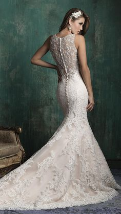 Lace Back Wedding Dress - Allure Couture Fall 2015
