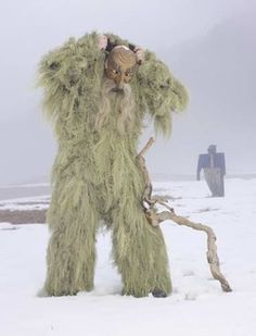 AUSTRIA Every five years the men of Telfs collect lichen to create Wilder Mann, or Wild Man, costumes for the town's Carnival festival. Tradition dictates that they nibble on a piece of this lichen before the festivities