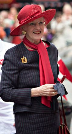 Queen Margrethe, June 19, 2014   Royal Hats.....Danish Summer Cruise Day 2....Posted on June 24, 2014 by HatQueen.