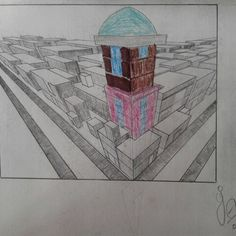 By ●▶ The Grasin Angie ■▶ 3 point perspective drawing.