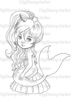 Little Mermaid 3. INSTANT DOWNLOAD Digital от digistampatelier
