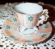 Paulux Footed Occupied Japan Tea Cup and Saucer