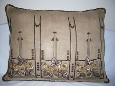 Arts & Crafts mission pillow by ARTANTIQ, via Flickr