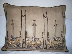 Arts & Crafts mission pillow by ARTANTIQ, via Flickr