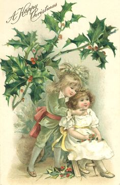 Holidays, Mary Christmas, Cards, Text & Clip Art...Vintage images