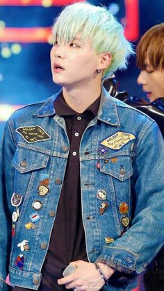 BTS || YOONGI || GREEN HAIR