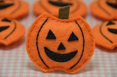 Set of 6pcs handmade puffy pumpkin (FT757). $5.89, via Etsy.