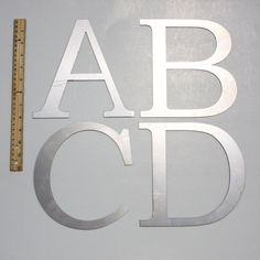 Traditional 8 Capital  Laser Cut Metal Letters by MonsonMetalCo