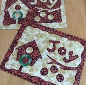 "Elegant birdhouse ""Joy"" PlaceMat Pattern - via @Craftsy"