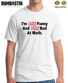 65277e3d0b1 R 0394 BAD MATH T-shirt Tee Funny Sarcastic Men Clothing Printed Free  Shipping