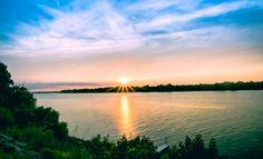Sunset Across The Ohio Owensboro, Kentucky