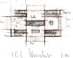 """Peter Zumthor: """"The spaces are like in the films, the four views are magnificent. Nothing is a nuisance. It's extraordinary. It's like the films"""". Architecture Concept Drawings, Architecture Board, Ancient Architecture, Sustainable Architecture, Architecture Design, Landscape Architecture, Peter Zumthor, Floor Plan Sketch, Conceptual Sketches"""