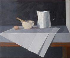 Still Life with Grey Paper by Robin Morris oil on canvas Still Life, Oil On Canvas, Robin, Paper, Grey, Artist, Gray, Artists, European Robin