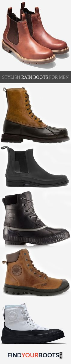222968d249 Ditch the rubber boots and upgrade to these cool rain boots for men that  are as
