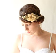 natural vine crown bridal hair accessory woodland by whichgoose